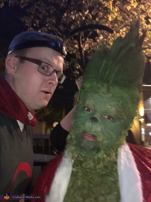 Look at those cheeks :), The Grinch Costume