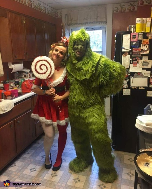 The Grinch and Cindy Lou Who Homemade Costume