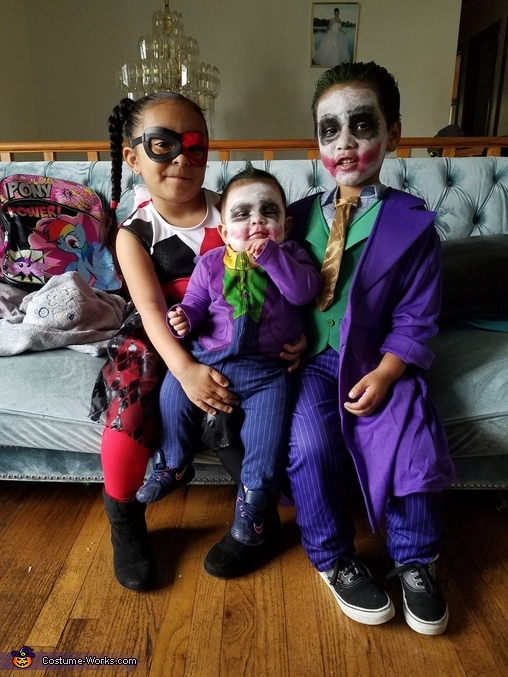 Little Joker and Little Harley Quinn, The Harley Quinns and The Jokers Costume