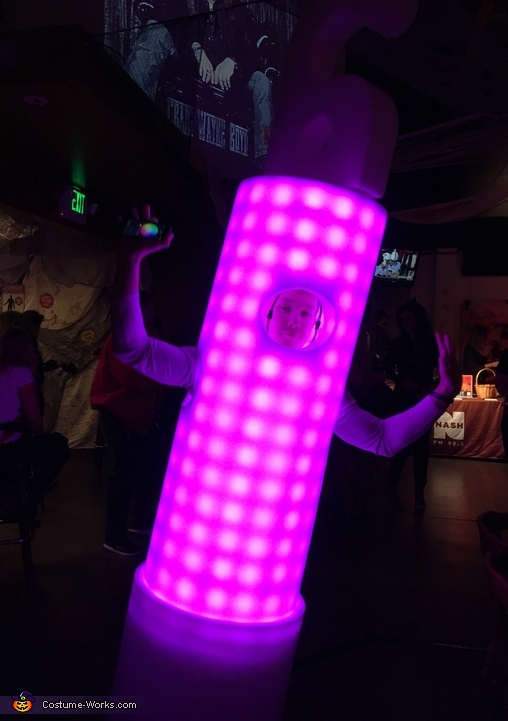 The Human Glowstick Costume
