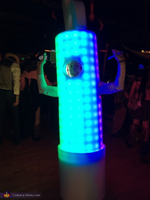 Rainbow glowstick (animated in real life), The Human Glowstick Costume