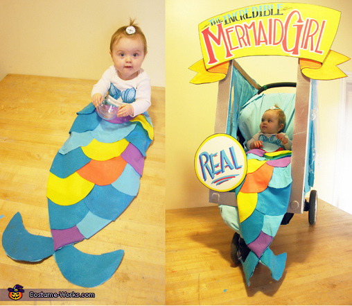 The Incredible Mermaid Girl,  Mermaid Baby Costume