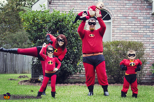 Mr. Incredible Elasticgirl Violet Dash and Jack Jack The Incredibles & The Incredibles Family Halloween Costumes - Photo 2/4