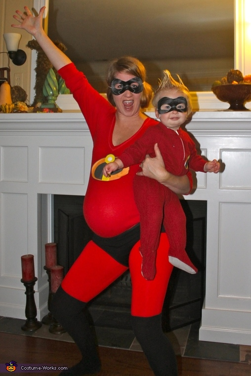 Elastigirl and Jack Jack, The Incredibles Family Costume