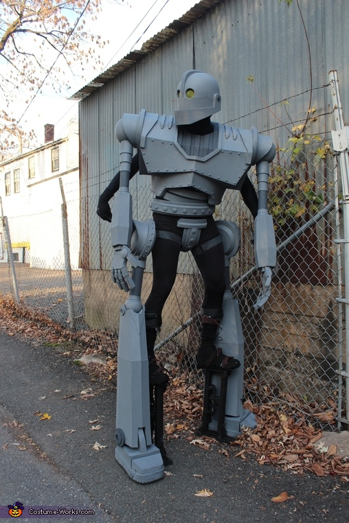 Hiding, Iron Giant Costume