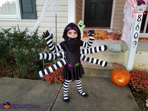 The Itsy Bitsy Spider Homemade Costume