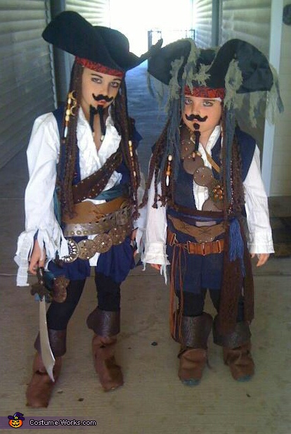 Jack Sparrow - The Real & The Imposter - Homemade costumes for boys