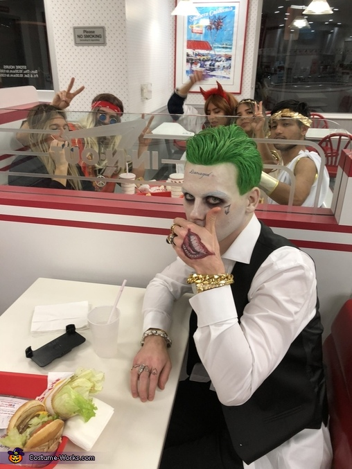 "At In N Out Hamburger in Long Beach, California, ""The Joker"" from Suicide Squad Costume"