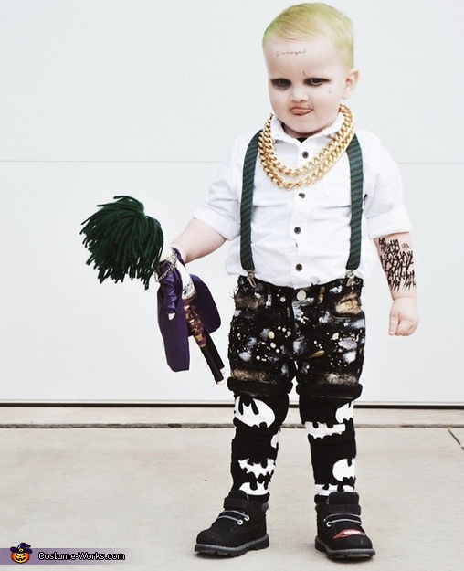 The Joker Toddler Homemade Costume