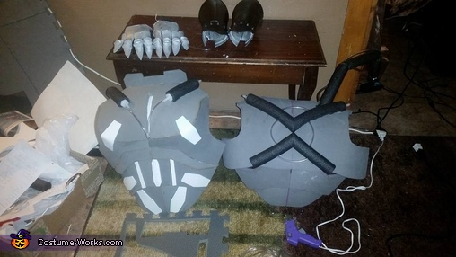 construction of guard's armor, The Lava Queen and her Guard Costume