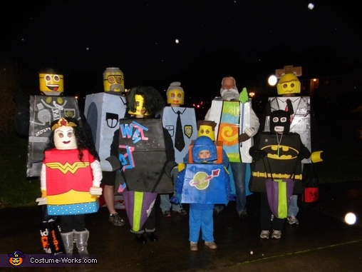 The Lego group with Good Cop, The Lego Movie Family Costume