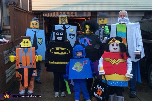 The Lego Movie Family Homemade Costume