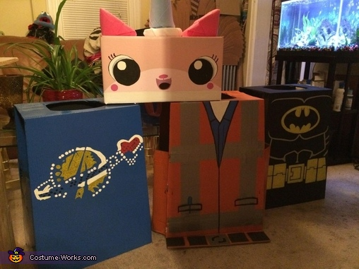 The Lego Movie Group Homemade Costume