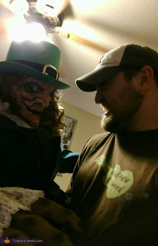 A stare down, The Leprechaun Costume