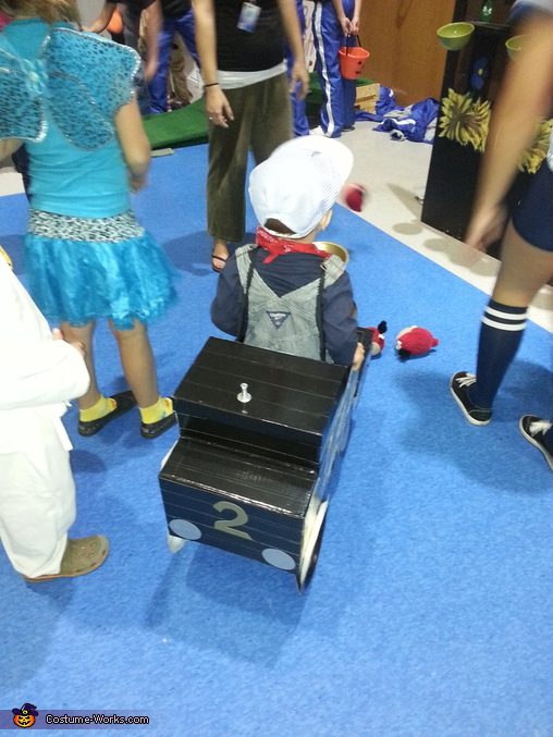 The back part of the train. , The Little Train Costume