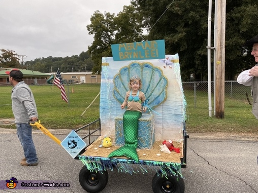 Her dad pulling her to a local contest where she got 1st place!, The Little Mermaid Brynlee Costume