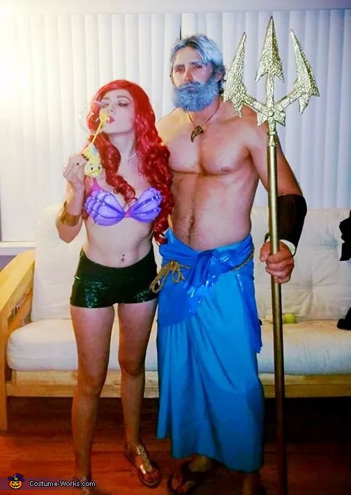 The Little Mermaid Ariel and King Triton Costume