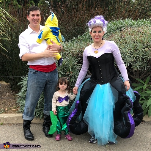 The Little Mermaid - Eric, Ursula, Ariel, and Flounder Costume