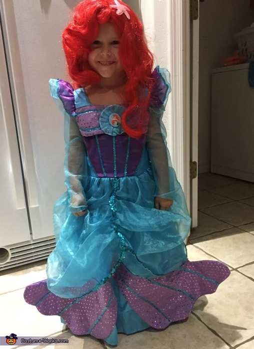 Ariel Before Her Voice Is Stolen, The Little Mermaid Family Costume