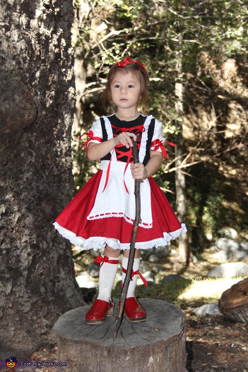 So much beauty is usually hidden under the red cape, The Little Red Ridding Hood Costume
