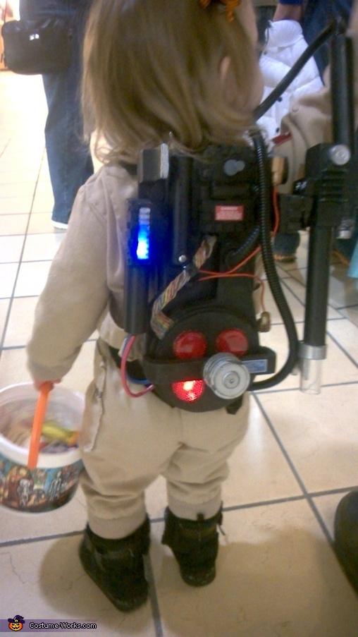 A proton pack is not a toy., Ghostbuster Baby Costume