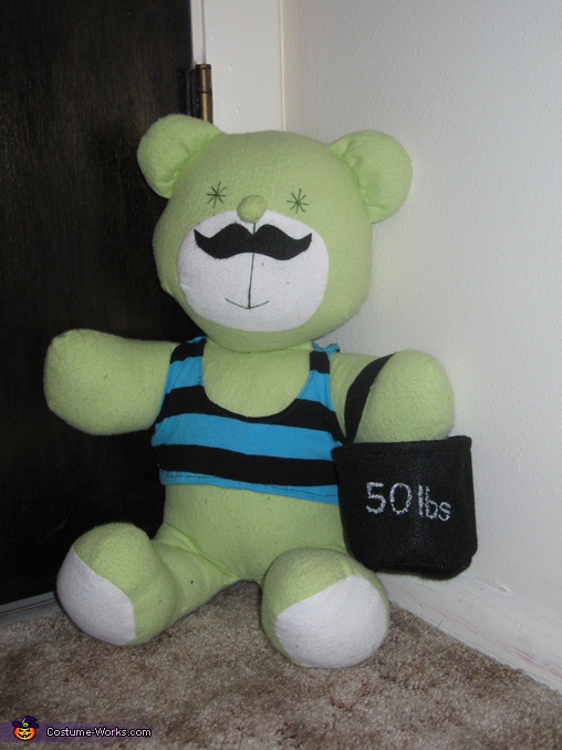 and his teddy, The Littlest Strongman Costume