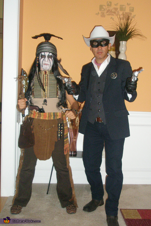 The Lone Ranger and Tonto Couple's Costume