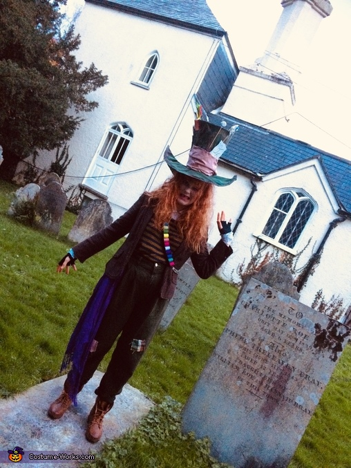 Taking pictures at the graveyard😂, The Mad Hatter Costume