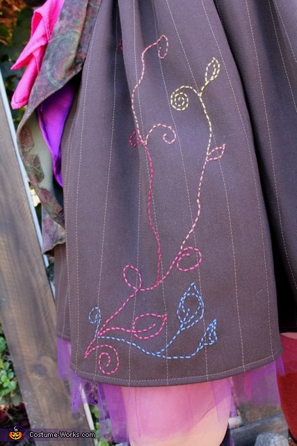 skirt stitching, The Mad Hatter Costume