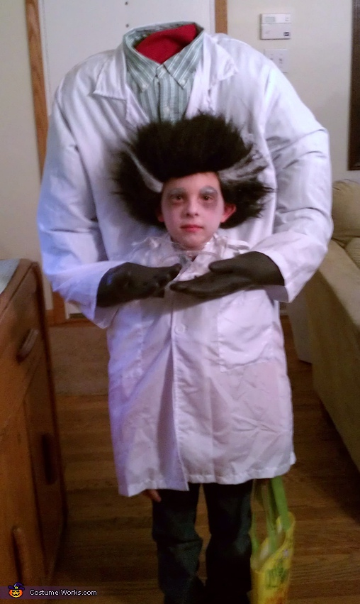The Mad Scientist Who Lost His Head - Homemade costumes for kids