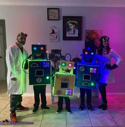 The Mad Scientists and their Son-Bots Costume