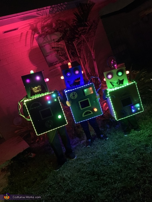 We love LEDS!, The Mad Scientists and their Son-Bots Costume