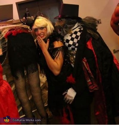 A side view of the costume, The Magician's Act Gone Bad Costume