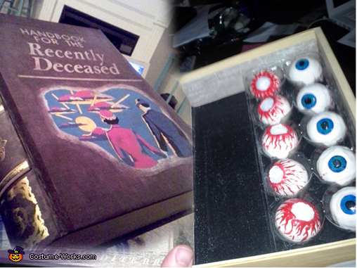 The handbook for the recently deceased and eyeball holder, The Maitlands from Beetlejuice Costumes