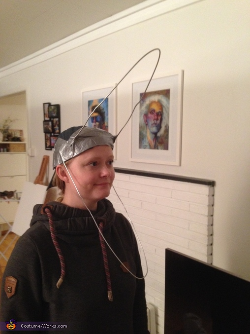 Coat hangers taped to a hat, The Maitlands from Beetlejuice Costumes