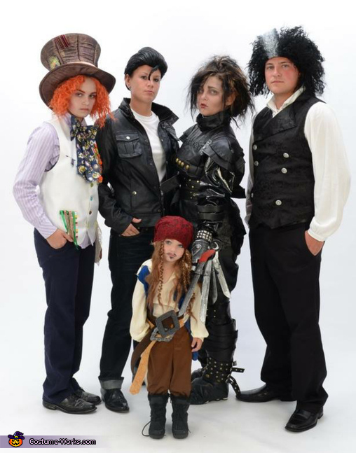 The Many Faces of Johnny Depp Family Costume
