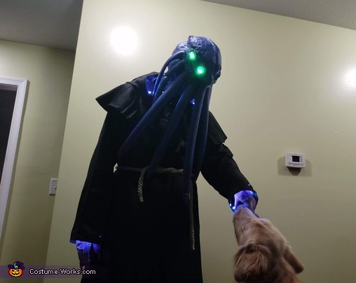 Our dog was quite interested, The Mind Flayers Costume
