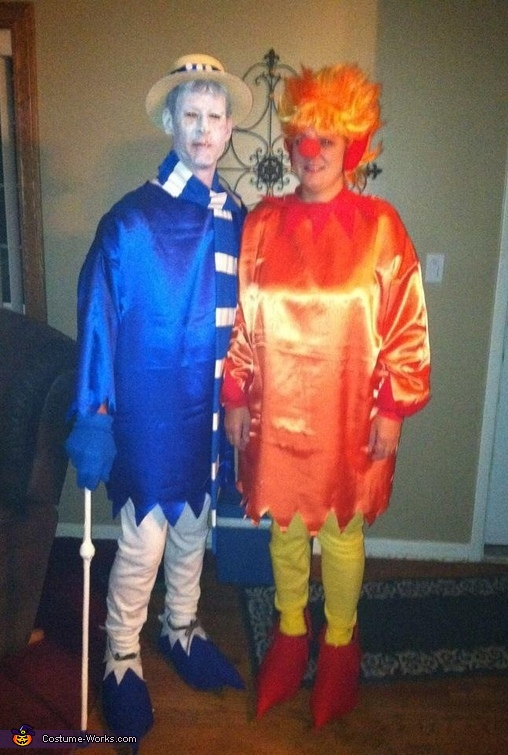 Heat & Snow Miser Couples Costume