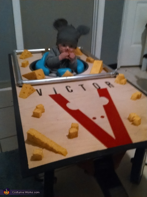 got caught eating cheese... hahahahahaha!!, The Mouse Trap Baby Costume