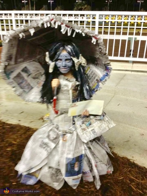 The Newspaper Princess Homemade Costume