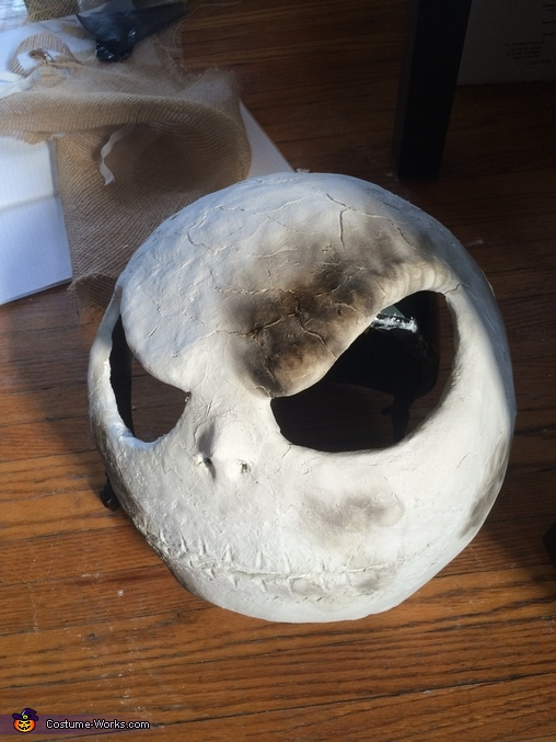 Burns over the jack eyes and chin, The Nightmare Before Christmas Costume