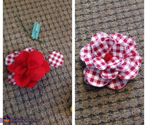 The flower being made, Noah and Allie Couples Costume