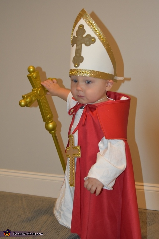 The Pope Baby Homemade Costume