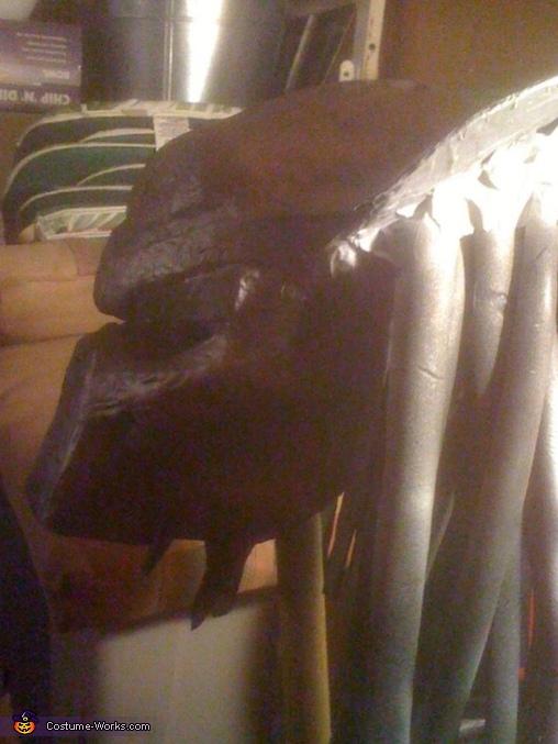 paint black with spray paint, The Predator Costume