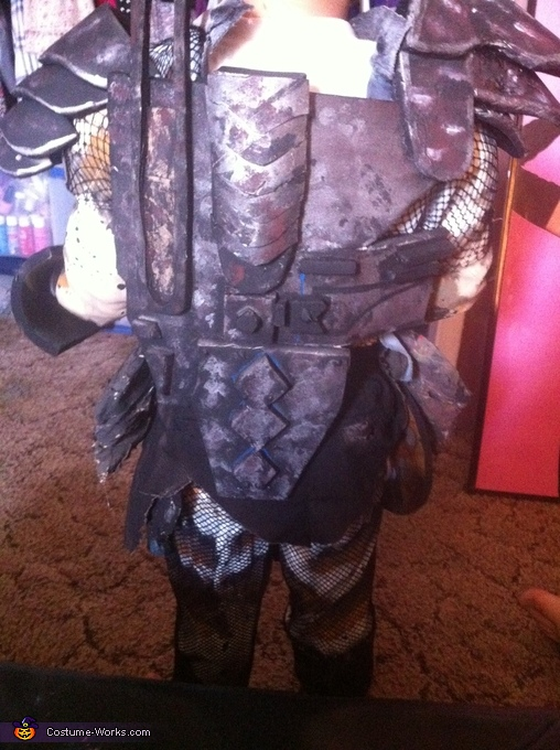 Back of the costume, The Predator Costume