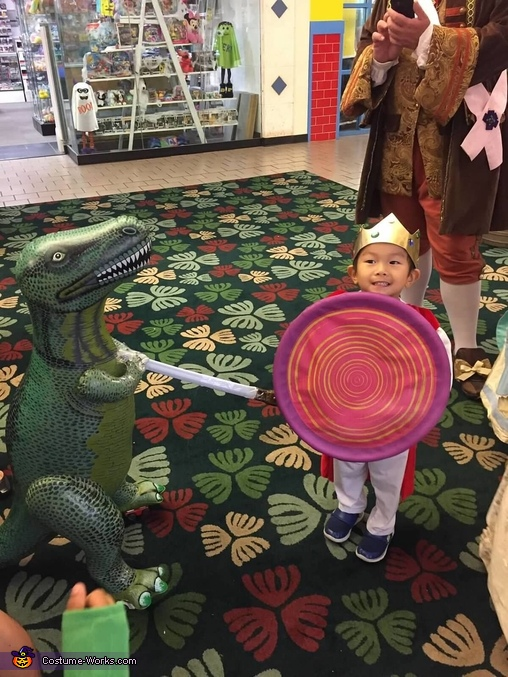 The Prince is slaying a Dragon Costume