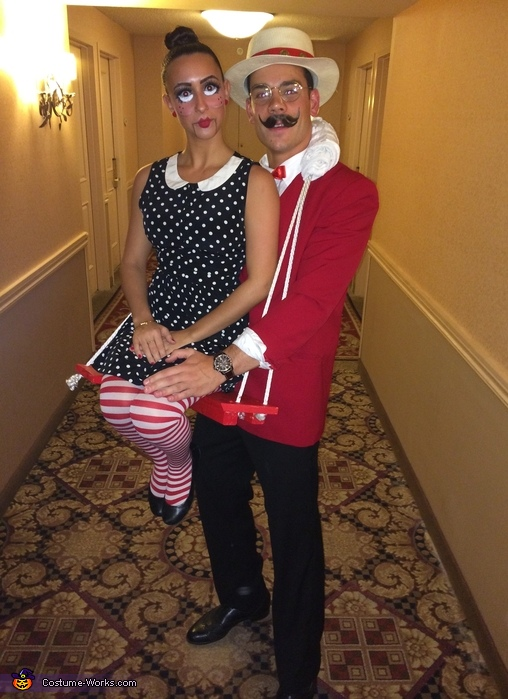 The Puppeteer & his Ventriloquist Dummy Couples Costume