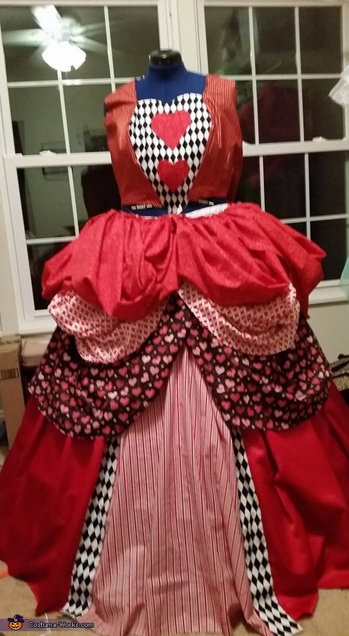 Queen of hearts in progress, The Queen of Hearts Costume