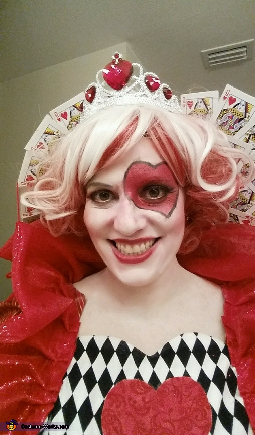 Closeup 2, The Queen of Hearts Costume