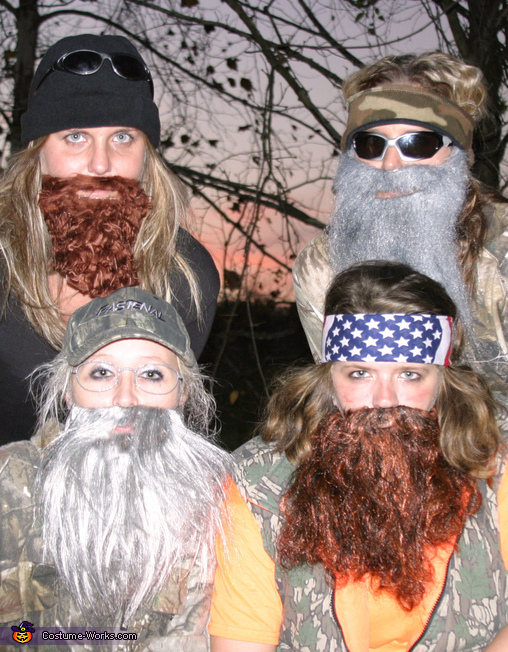 The REAL Duck Dynasty - Homemade costumes for groups